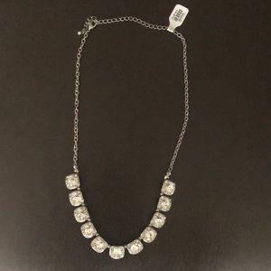 Francesca's Square Crystal Links Necklace